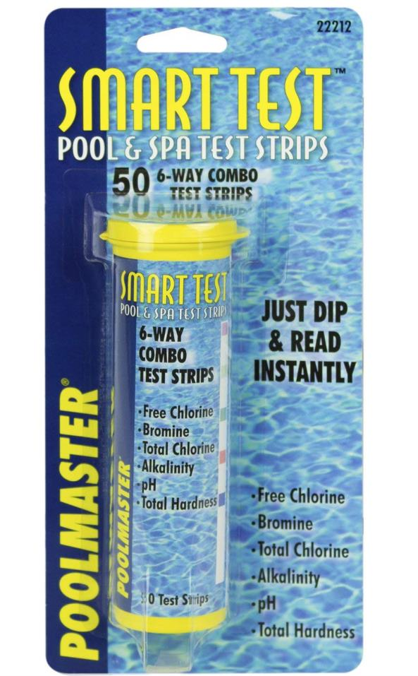 Hot tub test strips for ease of use